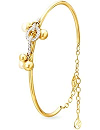 Mia By Tanishq 14KT Yellow Gold, Diamond And Pearl Bangle For Women