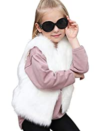 erthome ❤️ Baby Girl Clothes 1-5 Years Toddler Kids Baby Girl Winter Warm Clothes Faux Fur Thick Solid Coat Outwear