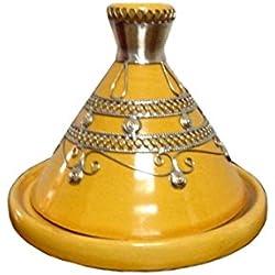 Tajín marroquí tuffi diámetro 13 cm de colour amarillo