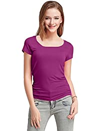 FASHION LINE Women's Purple Short-Sleeve T-Shirt