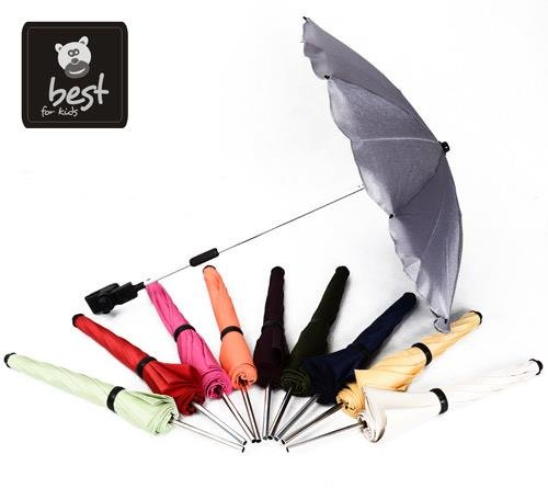 Best For Kids Universal Stroller Umbrella LATEST TECHNOLOGY Maximum UV Protection Standard 801 – umbrella and umbrella suitable for any pram, flexible and foldable, 13 colors to choose