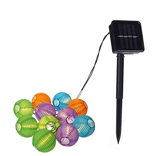 mailfoulen 20 LED Wasserdichte Laterne Solarlampe Holiday Garden Kugel-Fee-LED-Schnur-Licht Bunte Weihnachten im Freien dekorative ()