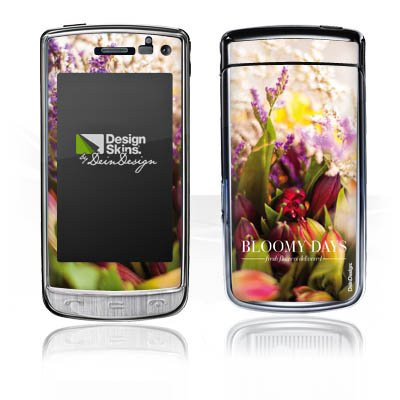LG GD900 Crystal Autocollant Protection Film Design Sticker Skin Prairie Tulipes Fleurs