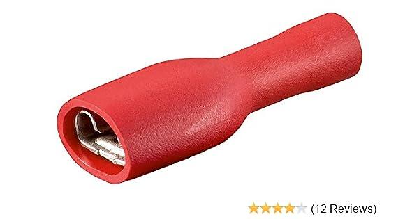 Flachsteckhülse 1,5mm²-4,8 rot 100 Stück vollisoliert