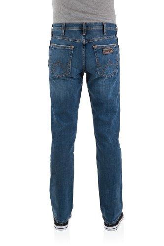 Wrangler Herren Jeans Arizona Stretch Worn Broke Blau (Canyon Blue 21J)