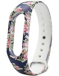 Para Xiaomi banda de silicona Sannysis funda de reemplazo para Xiaomi Mi Band 2 Bracelet (01)