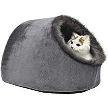 Vertast - Caseta con cojín lavable para gatos y perros pequeños