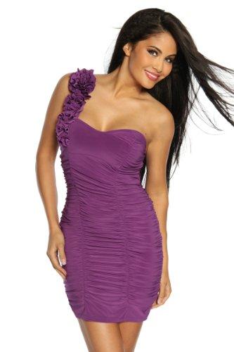 Cocktailkleid / Abendkleid Damen lila Oberteil Kleid Dress