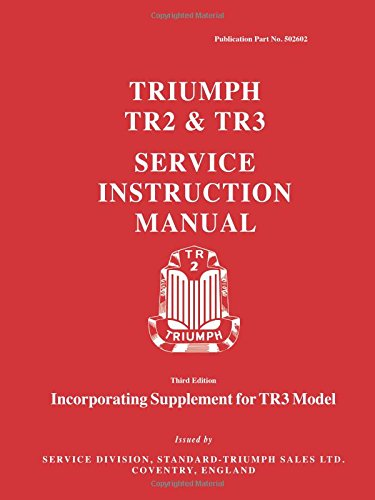 Triumph TR2 & TR3 Service Instruction Manual: Workshop Manual (Official Workshop Manuals) par Brooklands Books