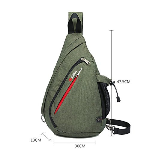 Klassische Messenger Bag Outdoor Fashion Chest Pack ArmyGreen