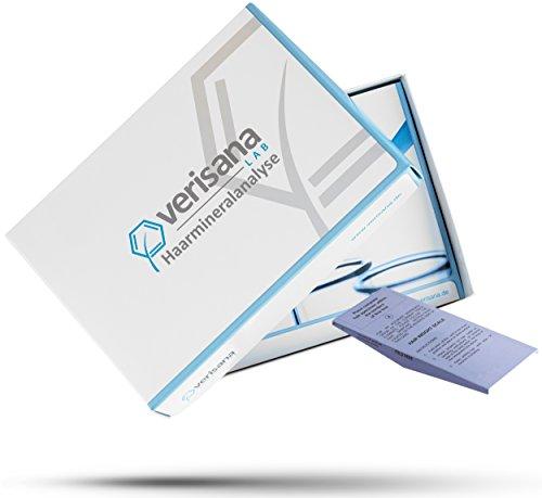 Verisana Haarmineralanalyse (Kopfhaar) – Schwermetall-Test & Mineralstoffmangel-Test – Mineralstoff-Analyse bei Haarausfall & Stoffwechselstörung – Grundlage für Schwermetallausleitung