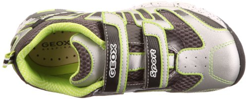 Geox Jr Ascari J22F5V01454C0635 Jungen Sneaker Silber (silver/lime C0635)