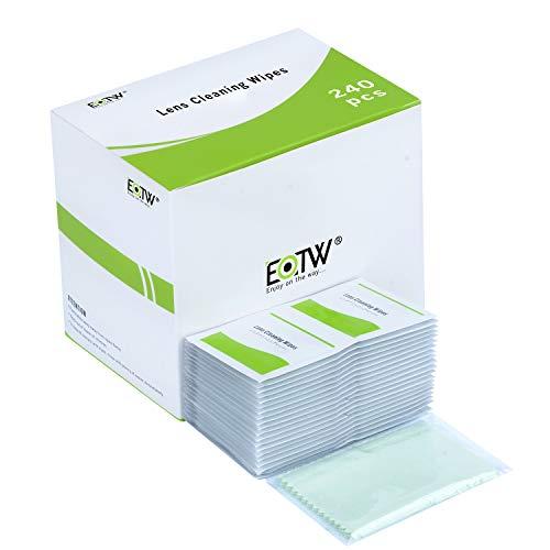 EOTW Toallitas Limpia Gafas, 240 Unidades Prehumedecidas Limpieza de Lentes para iPhone Samsung Galaxy iPad Tabletas Smartphone Gafas