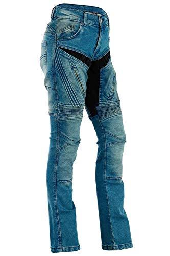 34W X 30L HB Moto hommes Jeans gratuitement protecteurs Jeans de Kevlar moto dhommes de qualit/é Premium Straight Fit