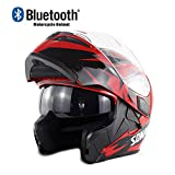 Original Casques Moto intégraux Bluetooth Modulable Intégral Coupe-Vent Scooter...
