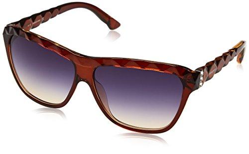 Swarovski Damen SK0079-6250W Sonnenbrille, Braun (Dark Brown/Gradient Blue), 62