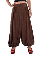 Indi Bargain Rayon Pleated trendy trousers (310Brown)