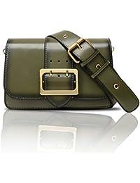 Bolso elegante de la aleta de Yoome Zigzag retro que dobla la correa de la hebilla del Pin para las mujeres Bolsos del sobre para las muchachas