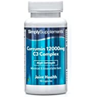 Curcumin 12000mg C3 Complex | Active Ingredient of Turmeric | 90 Capsules | 100% Money Back Guarantee | Manufactured in The UK