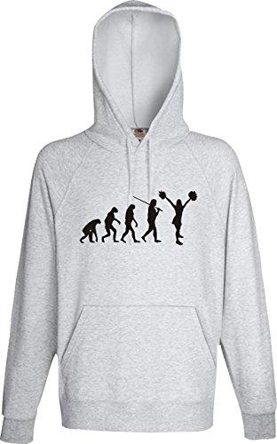 Krokodil Männer Kaupuzensweatshirt Evolution Cheerleader Cheerleading Kostüm Fun Sport Tanz, Farbe: sportsgrey, Größe M (Evolution Of Dance Kostüm)
