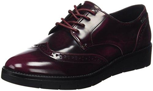 MTNG Collection, Zapatos de Cordones Oxford para Mujer, Rojo (Cordobano Burdeos), 39 EU