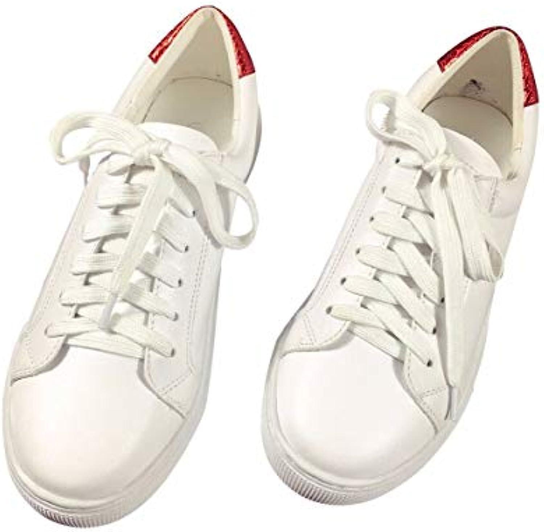 GTVERNH Scarpe Scarpe Scarpe da Donna Autunno Testa rossoonda Casual Superficiale della Bocca Piccole Scarpe Bianche Fry Cravatta...   Delicato  78c760