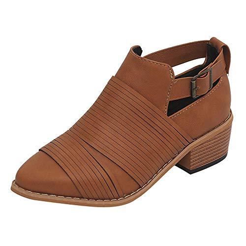 Bazhahei donna scarpa,ragazza stivali martin casuale single shoes,invernali/autunno tacchi alti scarpe singole stivaletti shoes con tacco basso stivale,boots moda da donna