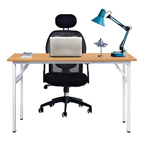 Need Schreibtisch Klapptisch Holzwerkstoffen Computertisch PC Tisch Bürotisch Arbeitstisch Esstisch für Zuhause, Büro, Picknick, Garten 120 * 60 cm,AC5BW