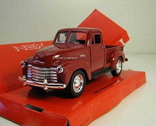 Welly DieCast metall Modellauto 1:36-39 Chevrolet Chevy 3100 Pick Up 1953 rot neu und box - Pick-up Spielzeug
