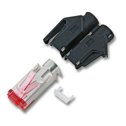 BIGtec 20 x RJ45 Stecker TM21 Hirose CAT.6 schwarz Crimpstecker RJ-45 Modular Plug Ethernet LAN Kabel Steckverbinder Netzwerkstecker geschirmt CAT6 -