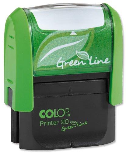 Colop Printer 20 Green Line Stempel individualisierbar selbstfärbend 4 Zeilen Textdruckgröße 37x13mm