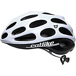 Catlike Olula Casco de Ciclismo, Unisex adulto, Blanco/Negro, L/60-62 cm