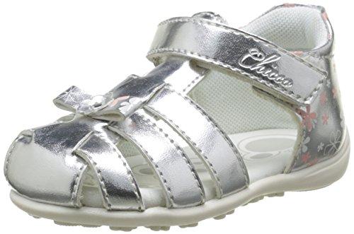 ChiccoSandale Gisabel - Primi passi alla caviglia Bimba 0-24 , Argento (Argent (20)), 23