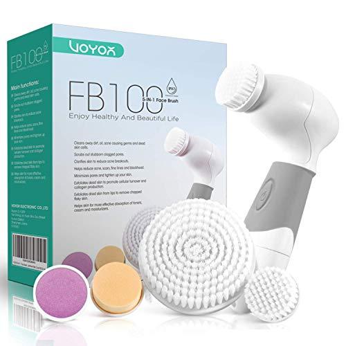 VOYOR 5 En 1 Cepillo Limpiador Facial Electrico
