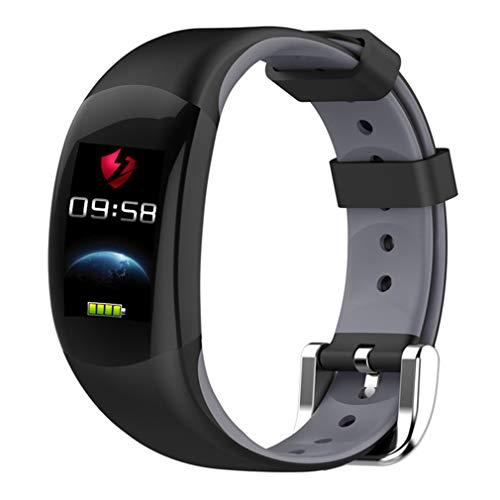 CCYOO Smart Armband Farbe LCD Fitness Armband Pulsmesser Fitness Armband IP68 Wasserdicht Schrittzähler Smart Band,Gray