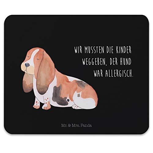 Mr. & Mrs. Panda Mauspad Druck Hund Basset Hound - Hund, Hunde, Haustiere, Hunderasse, Tierliebhaber Mouse Pad, Mousepad, Computer, PC, Männer, Mauspad, Maus, Geschenk, Druck, Schenken, Motiv, Arbeitszimmer, Arbeit, Büro -