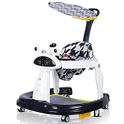 Baby Walkers,Multifunction with Universal Wheels and Easy Clean Tray Anti Rollover Folding Toddler Walker Maximum Load 15 kg for Girls and Boys