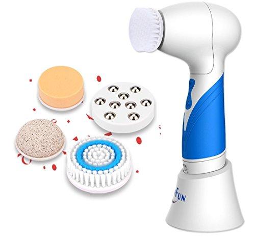SkinFun Gesichtsreinigungbrüste Gesichts-massagegerät Microdermabrasion Gerät für Haut Gecicht und Körper kann Microdermabrasion machen und Pore entfernen und Narbe, Akne, Dunkelheit und Falten entfernen Test