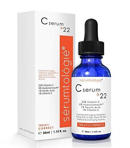 Vitamin C serum 22 by serumtologie Anti Aging Moisturizer - 1.15 oz by serumtologie