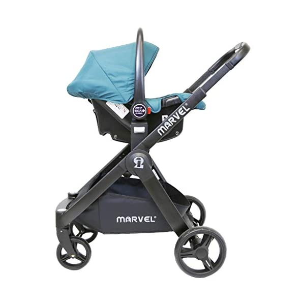 iSafe Marvel 2in1 Complete Pram System Pushchair and Carseat - Marrone iSafe  7
