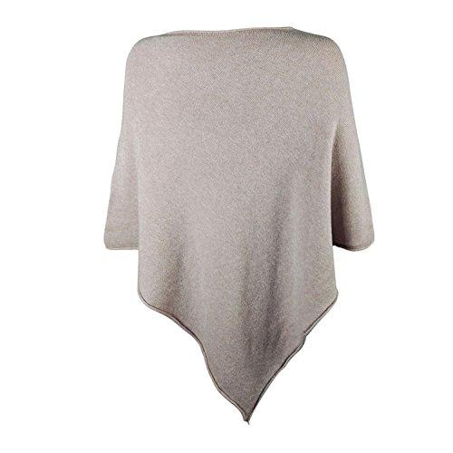 Glamexx24 Damen Elegante Poncho Strick Pullover Strick Jacke mit Stern Muster PO201605 15072 Blau