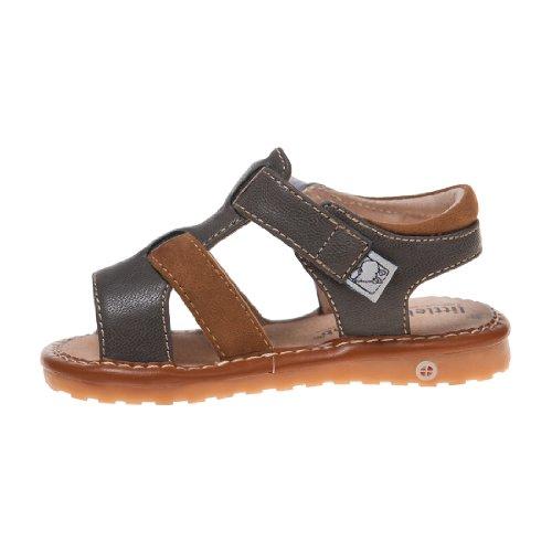 Little Blue Lamb Couine Chaussures Sandales Fermeture velcro gris brun Gris