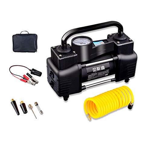 12V haute pression pompe gonflable de voiture bi-cylindre portable haute tension automobile ligne d'alimentation 3 m tuyau d'air 0,6 m
