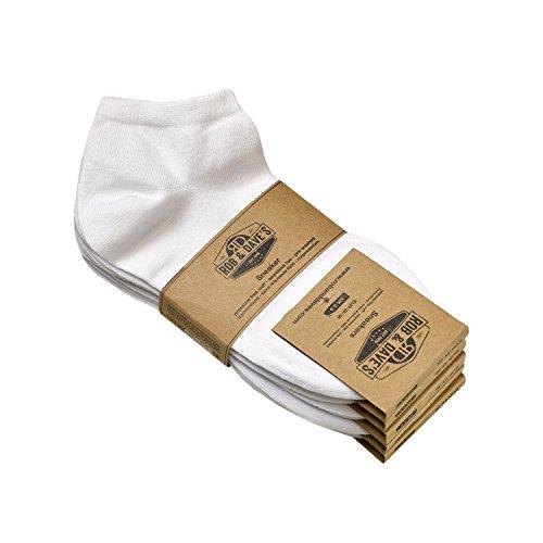 ORIGINAL Rob & Dave's 5 Paar Sneaker Socken - Weiss für Frau & Mann - Größen von 39-42 - Freizeit & Business Unisex Strümpfe - ohne drückende Naht - angenehmer Komfort-Bund (Socken, Weiße Jeans)