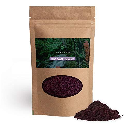 Acai Beeren Pulver Bio 250g | Premium, da Zucker < 0,5g | Gefriergetrocknetes Acaipulver aus kontrolliert biologischem Anbau | Ohne Zusätze | Superfood von Rawlane