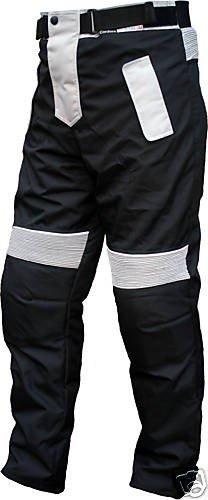 German Wear Motorradhose Cordura Textilien Motorrad Hose Kombihose, Schwarz/Grau, 56