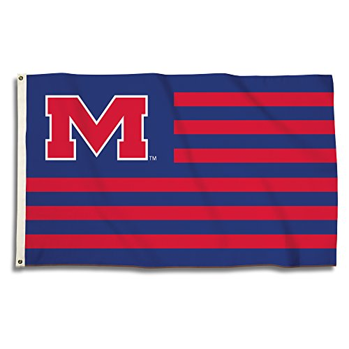 BSI NCAA Mississippi Rebels Flagge mit Ösen, Royal, 3 'x 5' -
