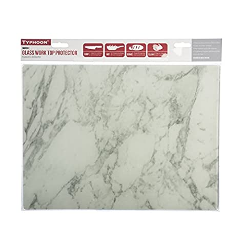 Typhoon Rectangular Work Surface Protector, Marble, 40 x 30 x 7 cm
