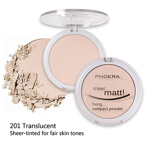 Mitlfuny Karnevals Make-up Fastnacht & Mottopartys,PHOERA Powder Concealer Matte Pearl Finishing Powder Pressed Powder 8 Farben