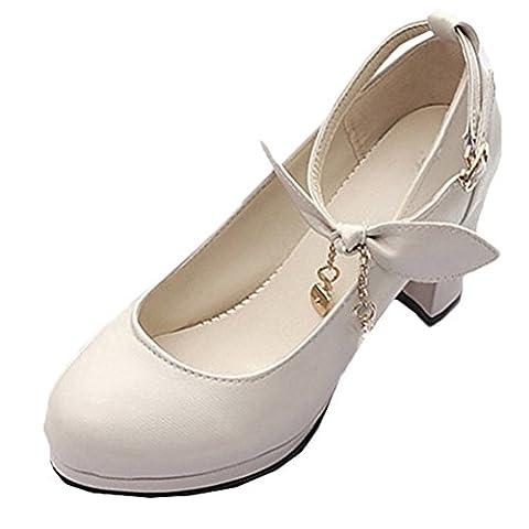 Scothen Heels Ladies cheville Strap Plateau Pompes fermé talon en daim arc chaussures de soirée élégante Femmes Mode Stiletto Sexy Heels Platform Pumps mariée Pompes de plate Chaussures